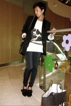 black Miss Sixty shoes - Mango leggings - white Topshop