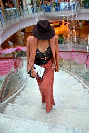 dark brown bought online - light orange Zara - Necklace-F21 - black Emporio belt