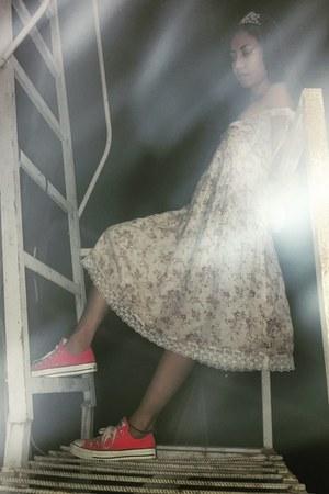 eggshell floral dress