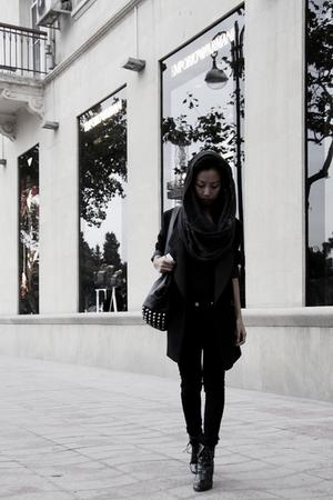 gray Mango - black Derek Lam - black skinny jeans Mango - black