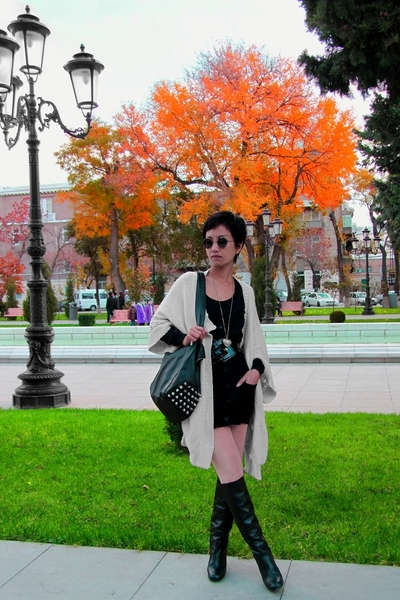 beige Stella McCartney sweater - black cardigan Mango