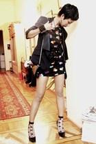 black Mango shoes - black Topshop dress - black Mango blazer