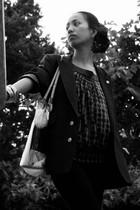 vintage dior jacket - Naf Naf - Mango leggings - Phil Brand - Steve Madden - Acc