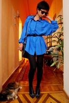 blue Diane Von Fursternberg shirt - black Accessorize - black Topshop - black Ma