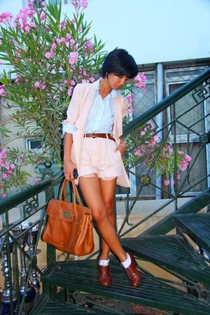 US Polo Assn shirt - brown H&M shoes - brown Zara belt - pink Zara