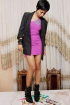 black Stella McCartney jacket - pink Mango - black Alexander Wang - green Access