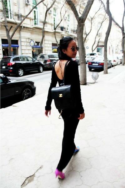 black backpack Chanel bag