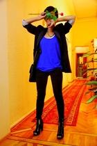 black Mango jacket - black Mango - black Topshop - black Topshop - Accessorize -