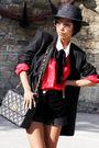 Black-zara-hat-prada-sunglasses-red-vintage-ebay-black-stella-mccartney-