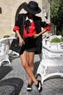 Black-zara-hat-prada-sunglasses-red-vintage-ebay-black-stella-mccartney-