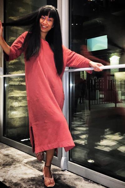 light pink silk Zara shoes