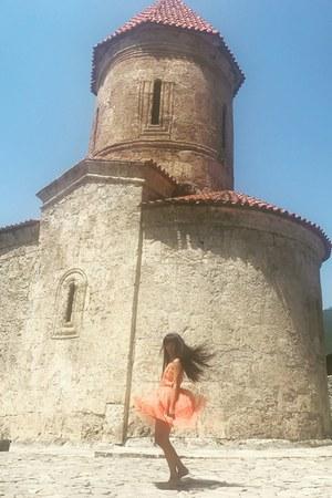 carrot orange tulle christian dior dress