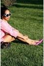 Bubble-gum-zara-jacket-hot-pink-kitten-heels-aldo-shoes