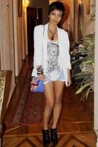 white Stella McCartney jacket - white Mango - blue Mango - black Turkish Brand -