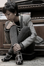 Alexander-mcqueen-jacket-black-collins-sweater-gray-topshop-jeans-h-m-shoe