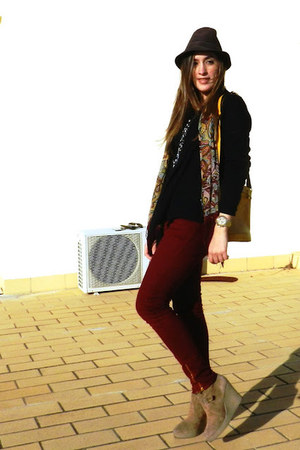 Zara jeans - Mango boots - Zara shirt - didier lamarthe bag