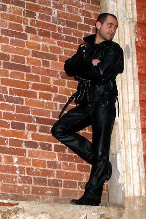 black random jacket - black random jeans