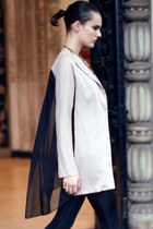 cream romwe coat