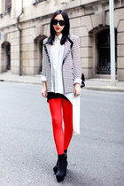 white romwe shirt - red romwe tights