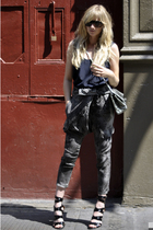 American Retro pants - Karen Walker sunglasses - The Row top - Chanel 255 access