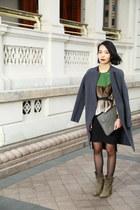 31 phlip lim coat - Hugo Boss boots - no brand bag - no brand top