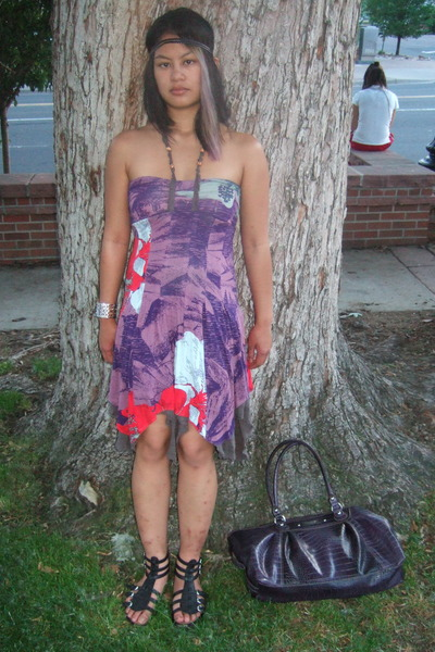 Purple Free People Dresses, Black Classified Shoes, Silver ...