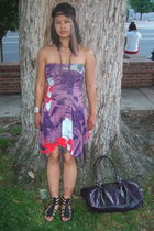 purple free people dress - black Classified shoes - silver Shemoni Jewelry brace