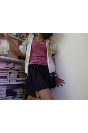 BDG shirt - play by charlotte ronson skirt
