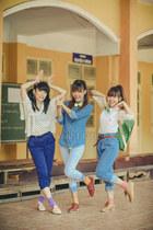light blue jeans - sky blue jean shirt - dark brown loafers