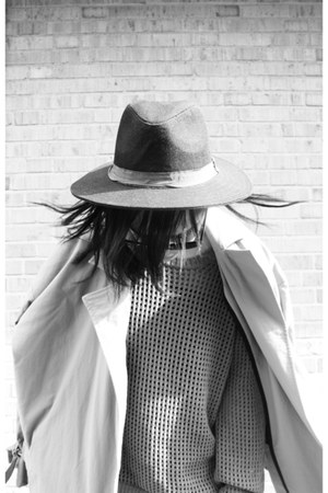 Michael Kors shoes - Topshop coat - Urban Outfitters hat - Alexander Wang sweate