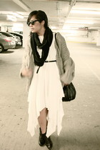 H&M bag - Zara cardigan - American Apparel scarf - UO sunglasses - unknown dress