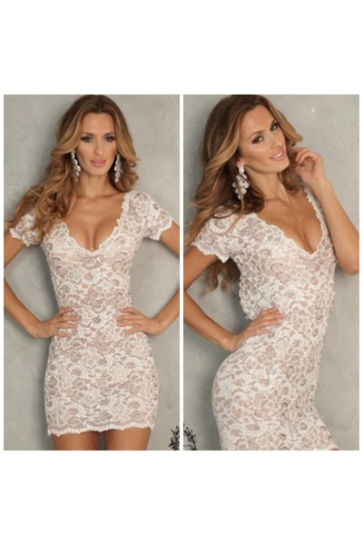 ivory lace white lace sexy dress dress