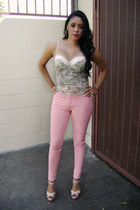 Hot Miami Styles jeans - Forever21 top - lola shoetique heels
