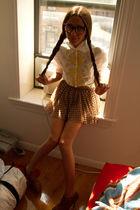 white Paul Smith blouse - orange Topshop skirt