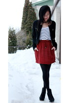 silk Club Monaco skirt - H&M dress - Urban Outfitters cardigan