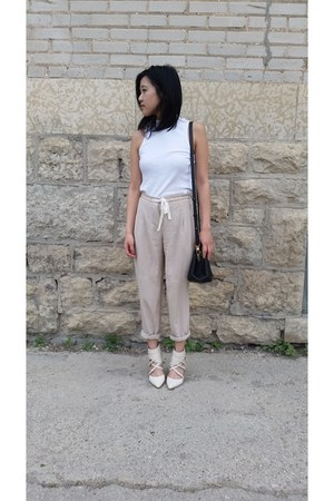 Nine West shoes - Auxillary bag - Aritzia pants - H&M top