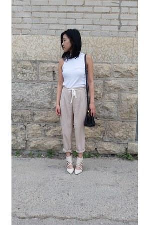Nine West shoes - Auxillary bag - Aritzia pants - H&M top