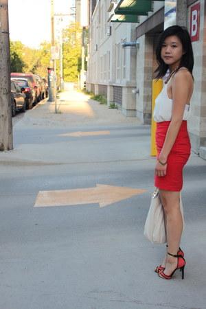 Zara shoes - romwe shirt - Michael Kors purse - H&M skirt