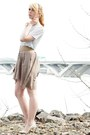 Beige-silk-skirt-light-blue-chiffon-american-apparel-shirt