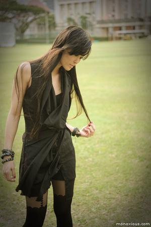 black Schwing schwing dress - black Topshop tights