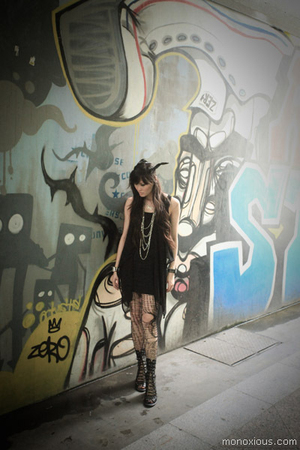 Jeffrey Campbell boots - Topshop dress - H&amp;M necklace - DIY accessories - Etsy s