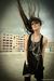silver chain mphosis necklace - black Zara boots - black dress mphosis dress