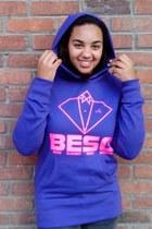 BESO sweatshirt - deep purple BESO sweatshirt