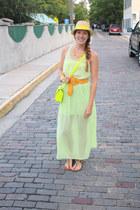 Forever 21 dress - Target shoes - Target hat - Francescas Collections purse
