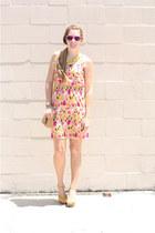 Anchors and Acorns necklace - LC Lauren Conrad shoes - Dillards dress