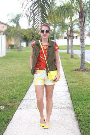 yellow Old Navy shoes - light yellow Target purse - yellow Gap shorts