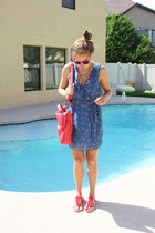 DIY necklace - fred flare dress - Francescas Collections bag