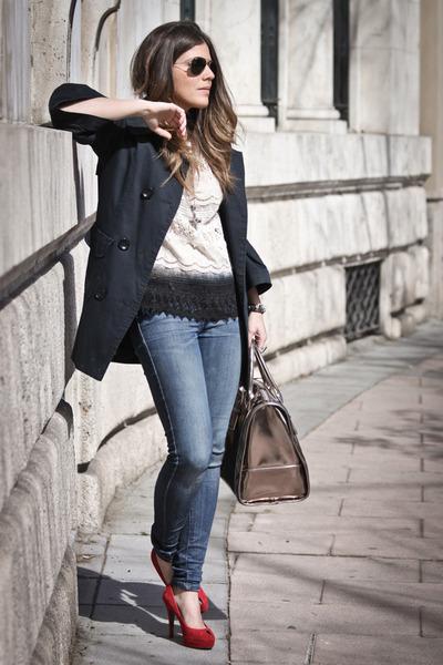 Zara top - asos bag - Again&Again pumps