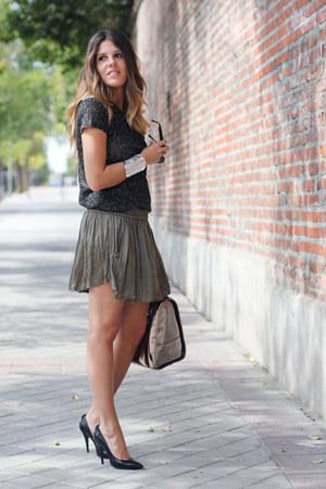 Zara skirt - asos bag - Zara t-shirt - Cooee bracelet