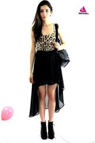 High Low Leopard Dress